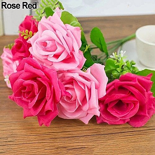 Buy Bluelans 7 Heads Sweet Artificial 2 Colors Rose Home Decor Rose