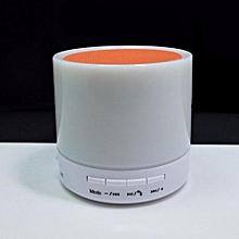 S71U Touch LED Light Mini Bluetooth Speaker with TF USB Surround loud Speaker wireless Speaker(Orange)