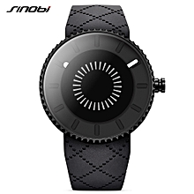 9742 Simple Men Watch Silicone Strap Quartz Movement Watch Waterproof Casual Clock Wristwatch for Male