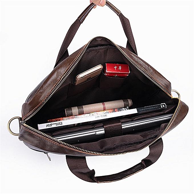 ... UK Men Business Genuine Leather Briefcase Handbag Laptop Shoulder  Messenger Bag Brown 3b5215994d04a