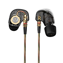 KZ-ATE 3.5mm In-Ear Earphones with Microphone HiFi Stereo Super Bass Sport Headset for iPhone/Samsung/MP3 - Black