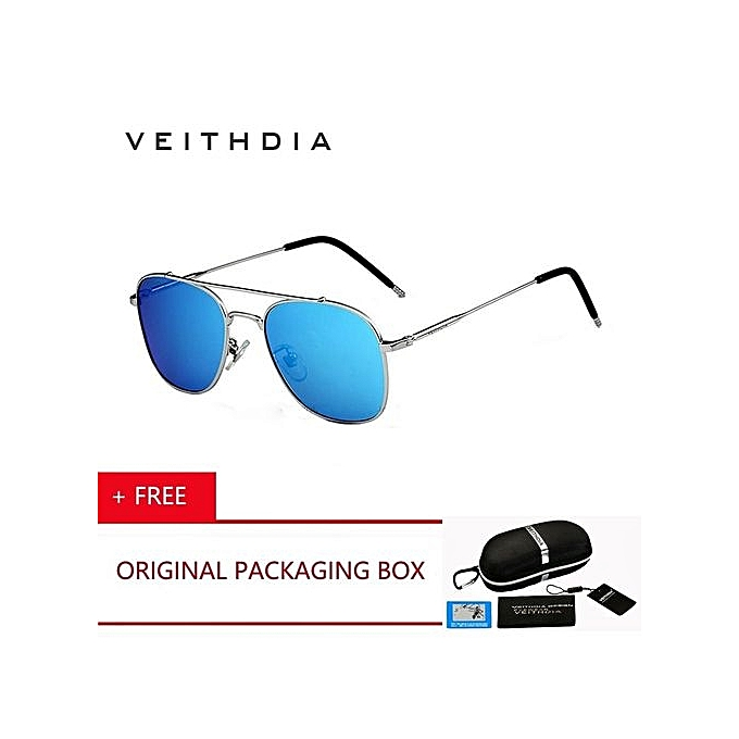 26197f3f8f VEITHDIA Driving Men Sunglasses Polarized Sunglasses Aluminum Magnesium  Frame Stainess Steel Sun Glasses Oculos Eyewear 3820