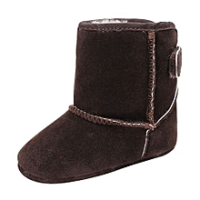 bluerdream-Baby Girl Boys Soft Sole Booties Snow Boots Infant Toddler Newborn Warming Shoes-Coffee