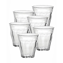 Picardie Tumblers - Set of 6- 9CL - Clear