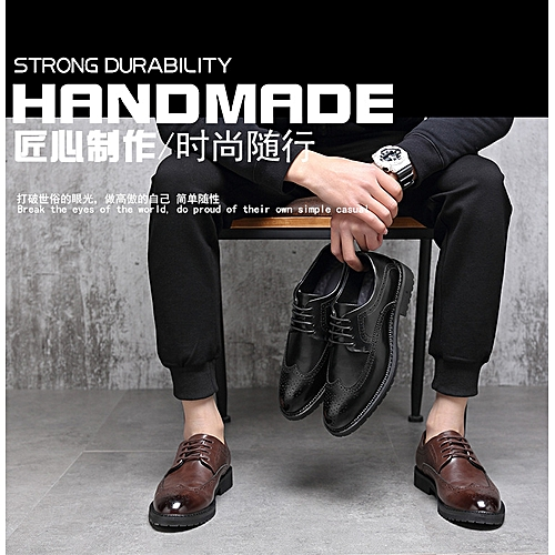5a8b177fe98 Generic Men s Dress Block Carved Leather Shoes Trendy Point Shoes Taobao  830-G