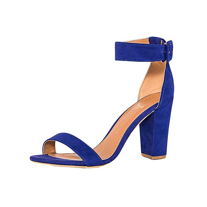 Dazzy Store Blue Chunky Heels | Buy online | Jumia Kenya