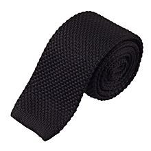 Fashion Men Knit Knitted Tie Necktie Neck Narrow Casual Slim Skinny Woven BK