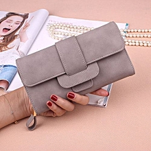 Lady's Leather Wallet - Grey