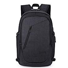 Laptop Backpack Waterproof Coded Lock Anti-theft Large Capacity Shoulder Bag