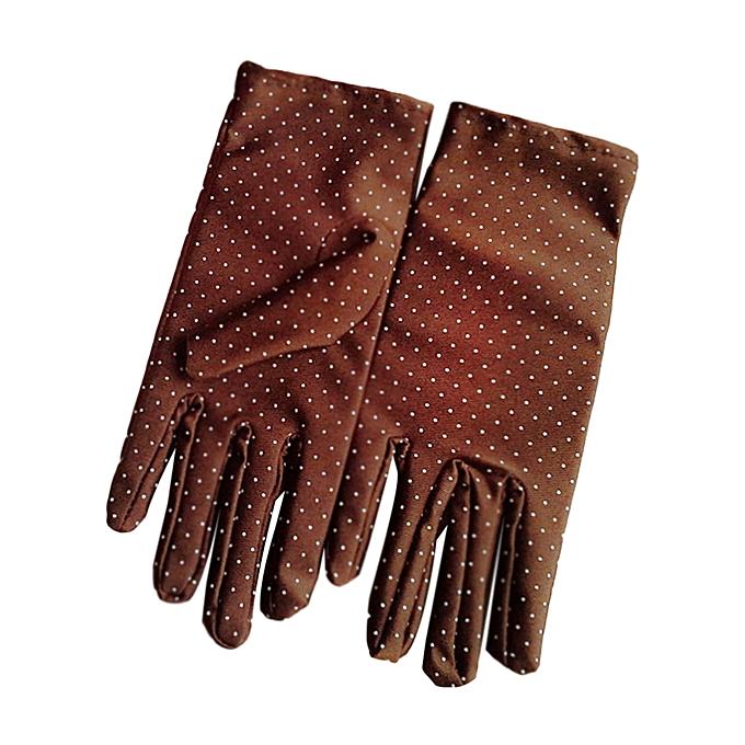92914990b ... Fashion Summer Drive Women Sun Protection Wrist Gloves & Mittens Dot  Elastic Lady Girl Women's Gloves
