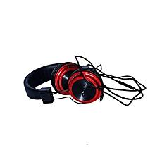 Boom Headphones Earphones - Black & Red
