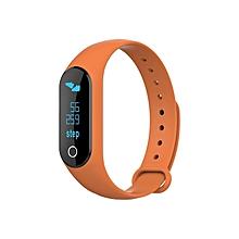 KALOAD W25B Smart Bracelet Heart Rate Blood Pressure IP67 Waterproof Sports Wristband#orange