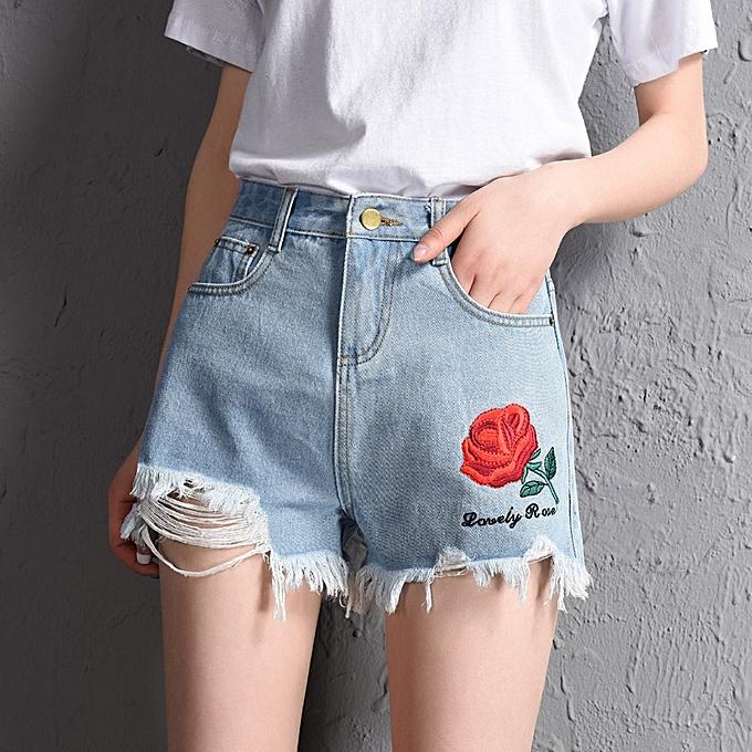 aa2bfb8ef85 Fashion Summer Denim Shorts Trouser For Women Plus Size Jean Shorts ...