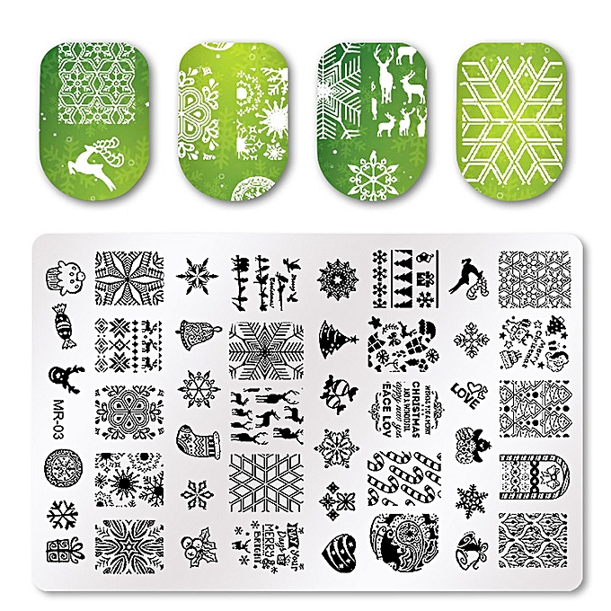 buy muyi christmas diy nail styles art stamp template image plates