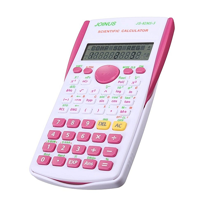 Super Quality School Student Function Calculator Scientific Calculator  Multifunctional Counter Calculating Machine Rose Red