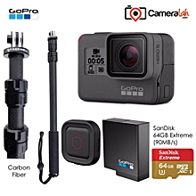 Go Travel Super Bundle for GoPro HERO5 Black (PRO M3 Carbon Fiber+Remo+Battery+64 Extreme) WWD