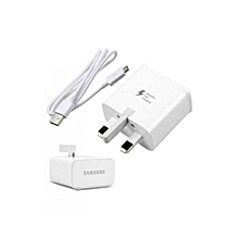 3 Pin Flash Charger - White