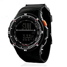 0989 Sports Digital LED Back Light Man Quartz Watch Fashion Outdoor Wristwatch - Black