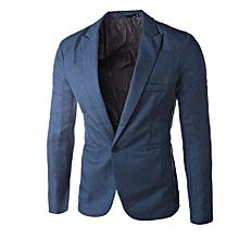 33c24e708751 Charm Men  039 s Casual Slim Fit One Button Suit Blazer Coat Jacket Tops