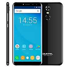 OUKITEL C8, 2GB+16GB, Network: 3G, Fingerprint Identification, 5.5 inch Android 7.0 MTK6850A Quad Core up to 1.3GHz, Dual SIM(Black)