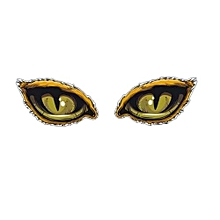 1Pair 3D Eagle Eye Horror Sticker Car Bumper Reflective Decoration 15x9CM