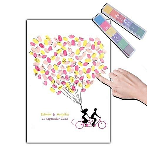 Fingerprint Signature Guest Book, Wedding Fingerprint Tree Canvas Painting, DIY Baby Shower Party Supplies