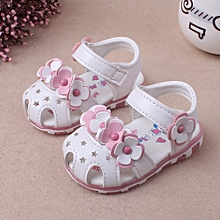 489d30e63f455 jiuhap store Baby Girl Sandals Casual Flowers Shoes Sneaker Anti-slip Soft  Sole Toddler WH