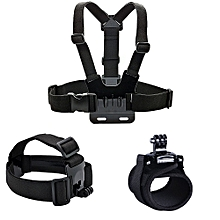 Chest Strap Headband Hand Band Accessories for Gopro - Black