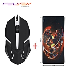 Professional Office USB Wired Ergonomic Silent Mouse for Computer Laptop & Optical Mobile Mice Set with Gaming Mouse Pad