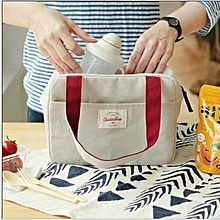 Honana CF-LB022 Insulated Cooler Lunch Tote Bag Travel Picnic Handbag Zipper Storage Containers