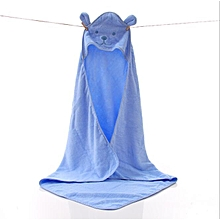 100% COTTON HOODED TOWEL- BLUE