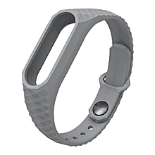 New Strap For Xiaomi MI Band 2 Smart Wristbands Silicone Wrist Strap Replacement Bracelet Strap -Gray