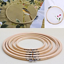 Practical 13-26cm Cross Stitch Machine Bamboo Frame Embroidery Hoop Ring Round Hand DIY Needlecraft