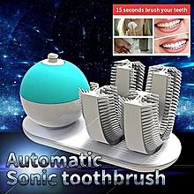 Toothbrush Amabrush Rechargeable Adults Ultrasonic U Shape 360 Degrees Handfree Teeth Whitening