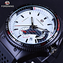 Winner GMT966 Sport Racing Style Rubber Band Mens Watches Top Brand Luxury Automatic Fashion Watch Mechanical Clock Men White Dial WWD
