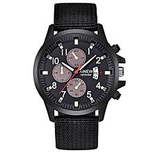 Men's Military Steel Military Date Quartz Analog Army Casual Dress Wrist Watches -Black