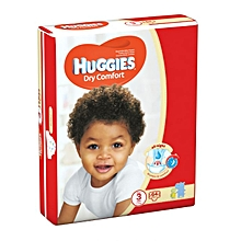 Dry Comfort Disposable Diapers Jumbo Pack Size:3 (0 -36 Months) - 64 Diapers