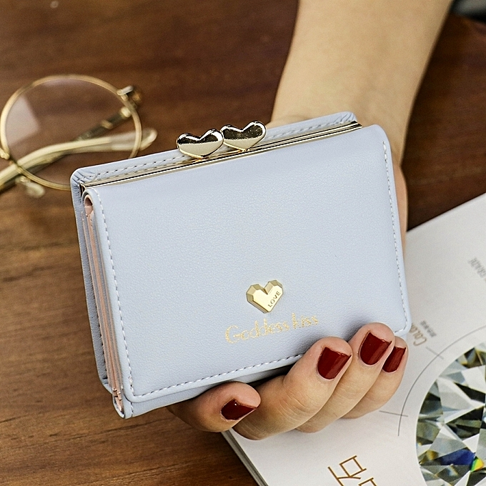 4e0c085f14 Fashion BlueLady s purse is female short style of 2018 new style of student  ssj the delightfully fresh benevolence purse of Han Ban Xiao is  multi-function ...