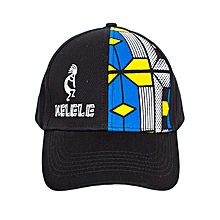 Black And Blue Baseball / Sports Hat With Kelele Color On Panel