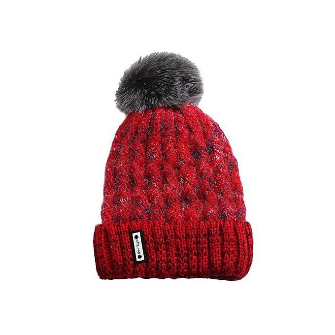 eb99d851c5e418 Wenrenmok Store Men's Women's Knit Wool Cosy Warm Beanie Winter Hat Ski  Crochet Cap Pom Pom