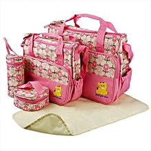 Elegant new design 5 in 1 Baby Diaper Bag Changing Pad Travel Mummy Bag - Pink
