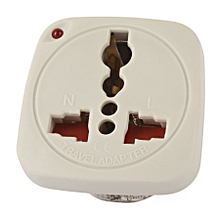 TL 15 - Travel Adaptor with Shutter & indicator - 2 USA Flat Pins to Universal Blister Pack
