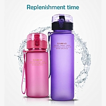 400ML Premium Sports Water Bottle With Leak Proof Flip Top Lid,Eco Friendly  BPA Free Tritan Plastic,Easy Carry For The Gym, Yoga, Running, Outdoors, Cycling, And Camping(Pink)