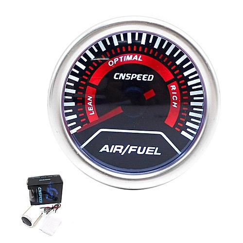 2 In 1 Auto Car LED Digital Air/Fuel Ratio Gauge Oil Meter 52mm Smoke Lens  black
