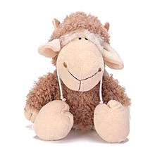 35cm windbreaker sheep hat sheep Dolly plush toy doll gift # Brown