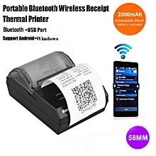 HOP-E200 - Bluetooth Thermal Dot Receipt Printer 58mm Wireless EU - Black