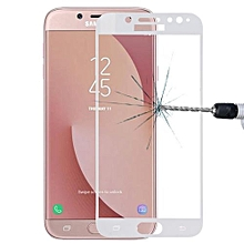 For Samsung Galaxy J7 (2017) (EU Version) 0.26mm 9H Surface Hardness 2.5D Curved Silk-screen Full Screen Tempered Glass Screen Protector(White)