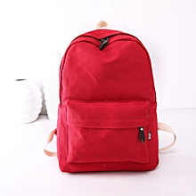 4e3b0e5c13 jiuhap store Women Girls Canvas Preppy Shoulder Bookbags School Travel Backpack  Bag-Red