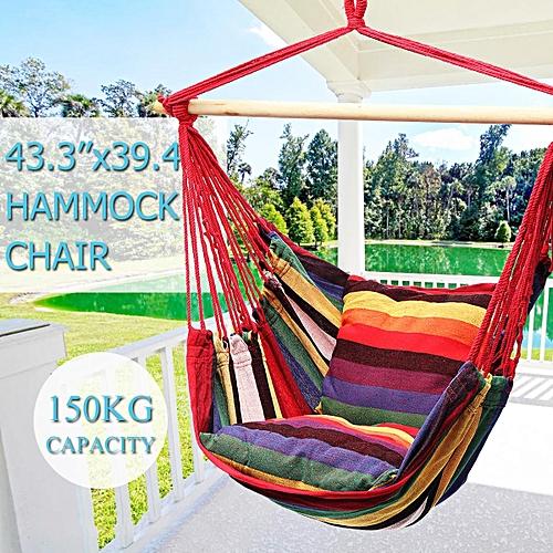 Generic 3pcs 43 3 X39 4 Hanging Hammock Chair Swing Outdoor Indoor Camping Garden