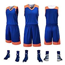 9d5409e84 Longo Children Boy And Men s Customized Basketball Team Sports Jersey  Uniform-Blue(GY7304)